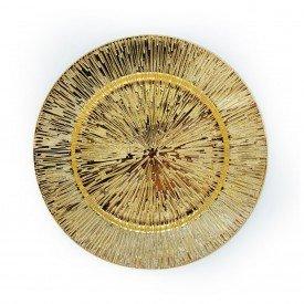 sousplat metalizado com detalhes individual dourado h d50907 d casa cafe e mel 1