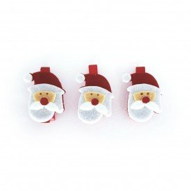 mini grampo decorativo natal papai noel 3 pecas md n14 2 casa cafe e mel 2