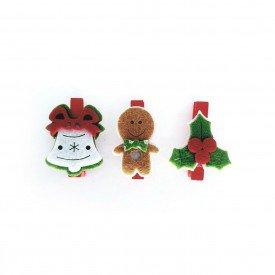 mini grampo decorativo natal vermelho 3 pecas md n14 5 casa cafe e mel 2