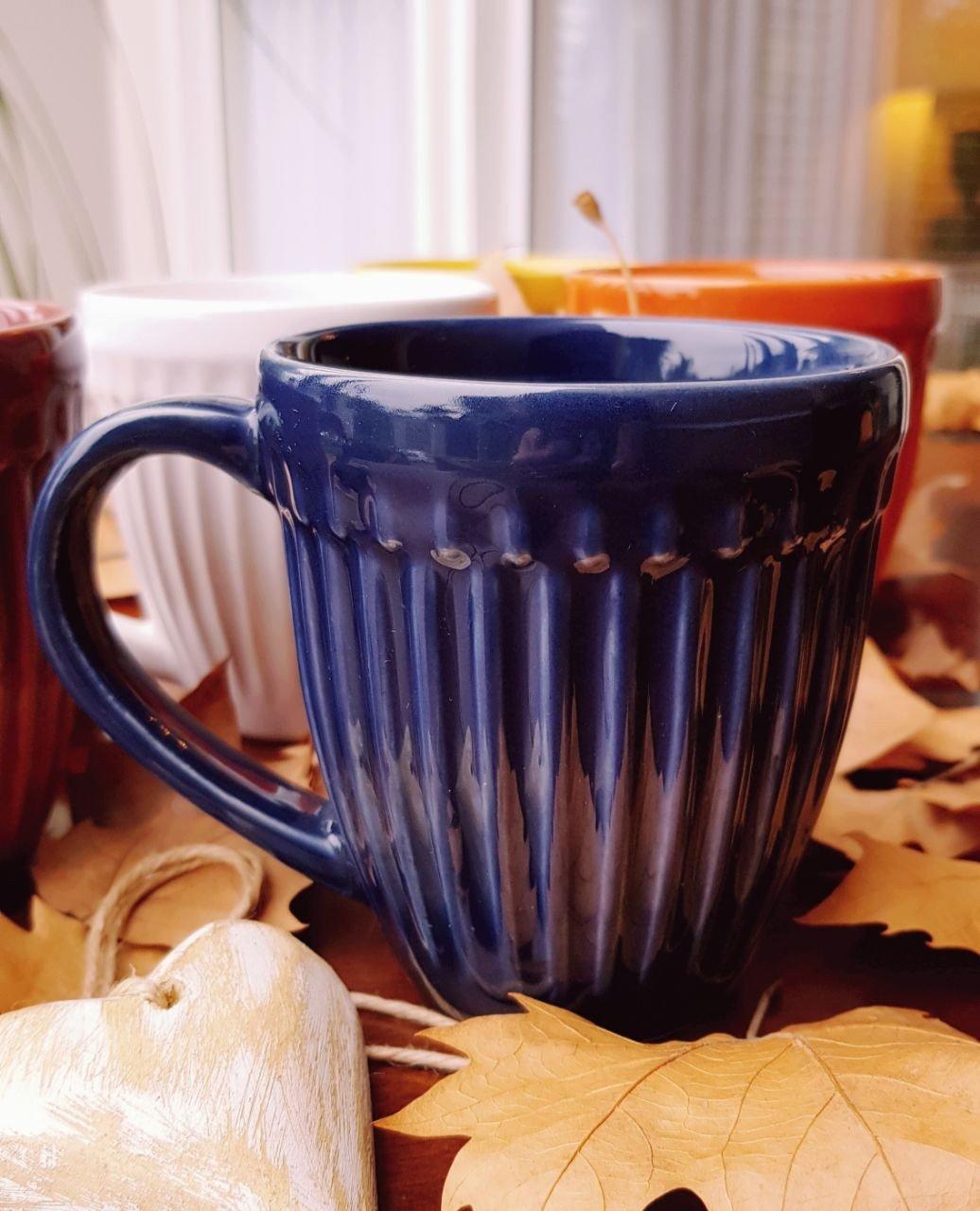 caneca roma ceramica 320ml porto brasil deep blue casa cafe e mel