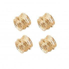 argola para guardanapo espiral dourado 4 pecas 7284 lyor casa cafe e mel 2