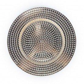 sousplat metalizado detalhe bolinhas individual rose gold 73400 r casa cafe e mel 2
