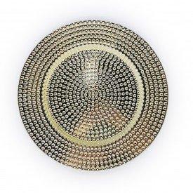 sousplat metalizado detalhe bolinhas individual dourado 73400 d casa cafe e mel 1