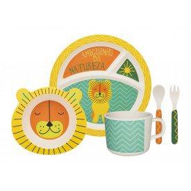 conjunto refeicao infantil leaozinho 075021 oxford casa cafe e mel 1