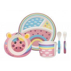 conjunto refeicao infantil unicornio 075014 oxford casa cafe e mel 1