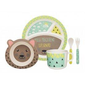 conjunto refeicao infantil ursinho 075028 oxford casa cafe e mel 1