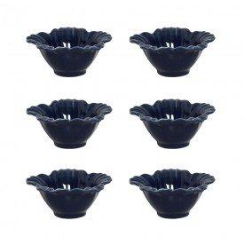 petisqueira ceramica campestre 6 pecas deep blue 121923201 porto brasil casa cafe e mel