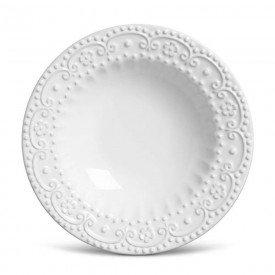 prato fundo ceramica esparta branco 6 pecas 61583 porto brasil casa cafe e mel