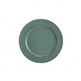 sousplat patinado de plastico opala verde 7698 lyor casa cafe e mel 1