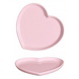 travessa ceramica coracao rosa 27 5x25 5cm 79 336r silveria casa cafe e mel