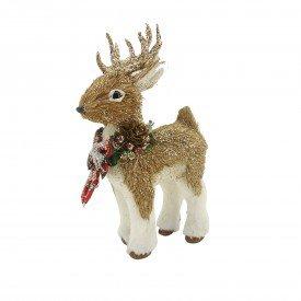 enfeite decorativo de natal rena em pe rustica 21464 casa cafe e mel