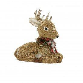 enfeite decorativo de natal rena sentada rustica 21465 casa cafe e mel