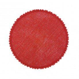 jogo americano redondo bordas bolinhas vermelho 20898 casa cafe e mel