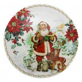 sousplat natal papai noel 21501 casa cafe e mel