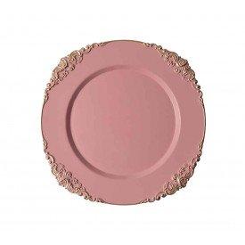 sousplat para cha rosa retro com detalhe 2 pecas sp 1531 manu fisch casa cafe e mel