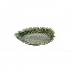 petisqueira de ceramica banana leaf 23x16x4 5cm 4332 lyor casa cafe e mel 1