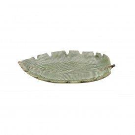 travessa de ceramica banana leaf 29x16x3cm 4336 lyor casa cafe e mel 1