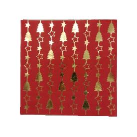 guardanapo de papel natal 20 pecas vermelho pinheirinho 21284 1 casa cafe e mel