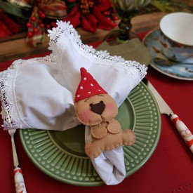 argola para guardanapo natal urso com gorro 003083 mameg casa cafe e mel 2
