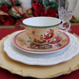 xicara para cafe porcelana natal 2 pecas laranja papai noel 119 068 casa cafe e mel 1