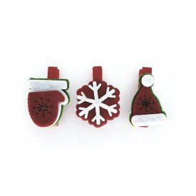 mini grampo decorativo natal floco de neve 3 pecas md n14 4 casa cafe e mel 2