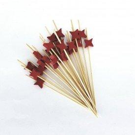 palito para petisco de madeira estrela vermelha trc7884 6 casa cafe e mel