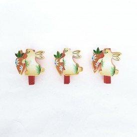 mini grampo decorativo pascoa coelho 3 pecas ct0135 casa cafe e mel 1