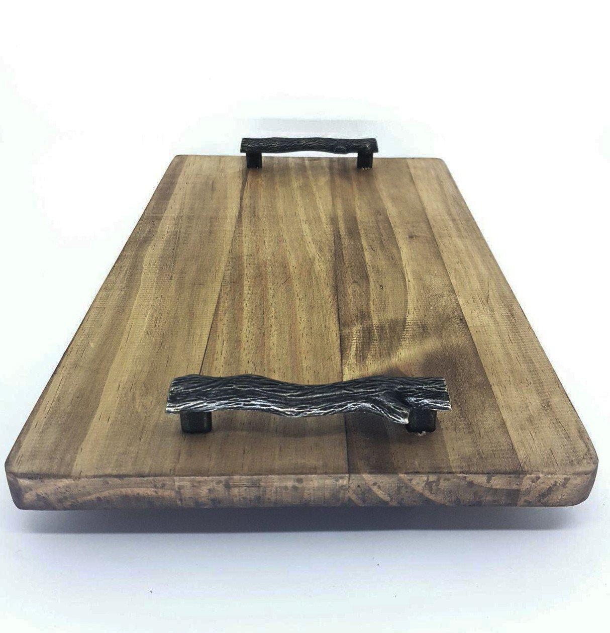 bandeja de madeira rustica pegador de metal 7502 1 casa cafe e mel 3