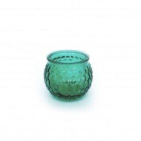 castical de vidro porta vela verde hd02102v casa cafe e mel 4