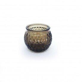 castical de vidro porta vela marrom hd02102m casa cafe mel 1