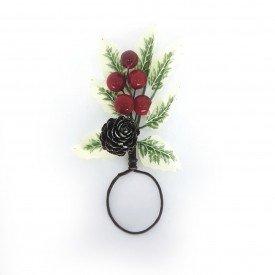 argola para guardanapo cereja pequena com pinha ane02 p casa cafe mel