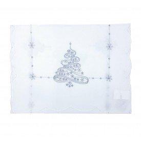 trilho de mesa individual natal off white com prata 624 007 casa cafe mel 1