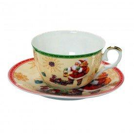 xicara para cafe porcelana natal 2 pecas laranja papai noel 119 068 casa cafe e mel 9
