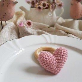 argola para guardanapo coracao croche amora casa docura casa cafe e mel