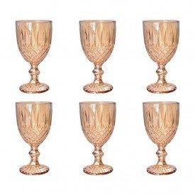 tacas para agua vidro dourado ambar 250ml 6 pecas mj g4230 a casa cafe mel 6