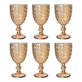 tacas para agua vidro diamond ambar 250ml 6 pecas mj g4232 aa casa cafe mel 1
