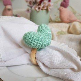 argola para guardanapo coracao croche amora casa agua fresca casa cafe e mel