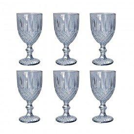 tacas para agua vidro cinza metalizado 250ml 6 pecas mj g4230 c casa cafe mel 1