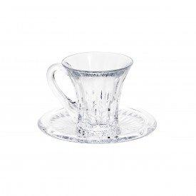 xicara para cafe cistal renaissance 105ml 6 pecas 7045 lyor casa cafe mel 7