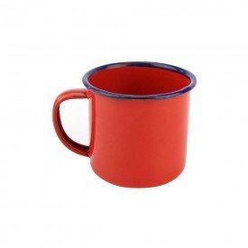 caneca de metal retro esmaltada vermelho 74431 vm casa cafe e mel