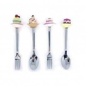 jogo de colher e garfo de resina cake 83332 casa cafe e mel 45