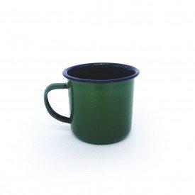caneca de metal retro esmaltada verde 74431 v casa cafe e mel 1