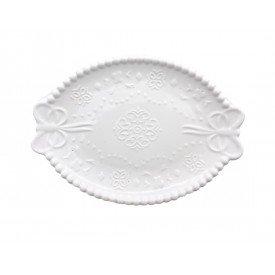 mini bandeja ceramica bolinha laco oval 061020 casa cafe e mel 1