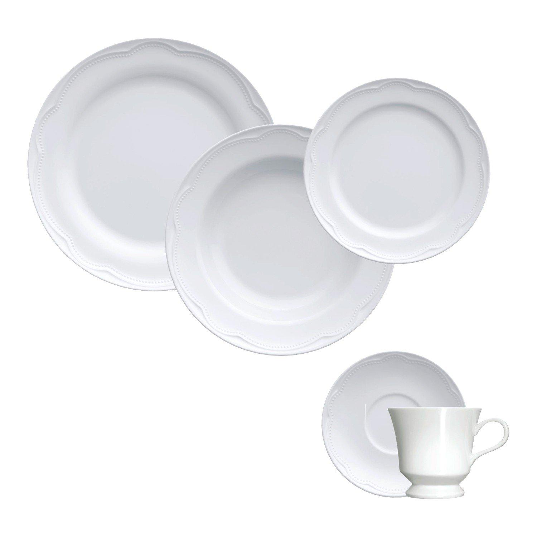 aparelho de jantar porcelana cottage 30 pecas 674002400 germer casa cafe mel