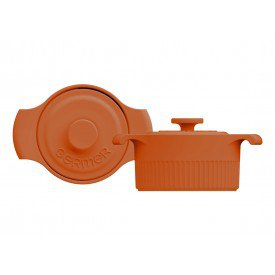 mini cacarola de porcelana com tampa laranja 2 8877810 38 00 germer casa cafe mel
