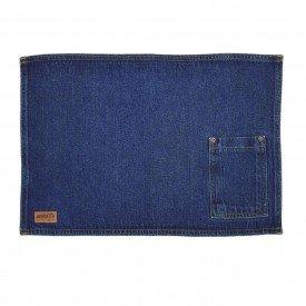 jogo americano jeans azul escuro bolso estreito individual 01616 merkatto casa cafe mel 1