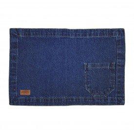jogo americano jeans escuro bolso largo individual 01611 merkatto casa cafe mel 1