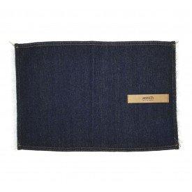 jogo americano jeans escuro desfiado couro individual 01609 merkatto casa cafe mel 4