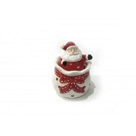 pote natal com tampa ceramica branco papai noel 1389 casa cafe mel 1