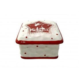pote natal com tampa ceramica quadrado estrela 1382 casa cafe mel 1